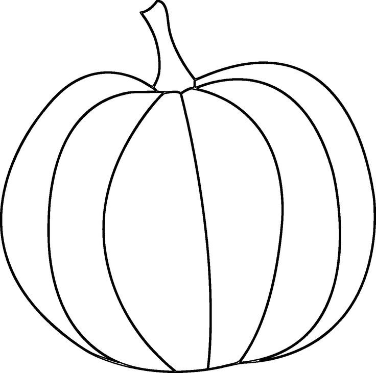 Pumpkin outline printable coloring home for Pumpkin templates free printable