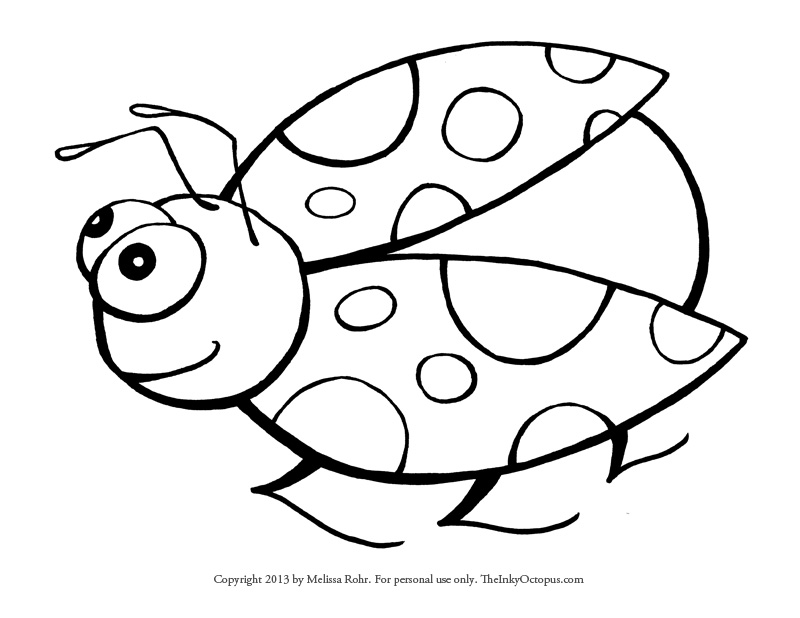 ladybug coloring pages worksheets - photo#1