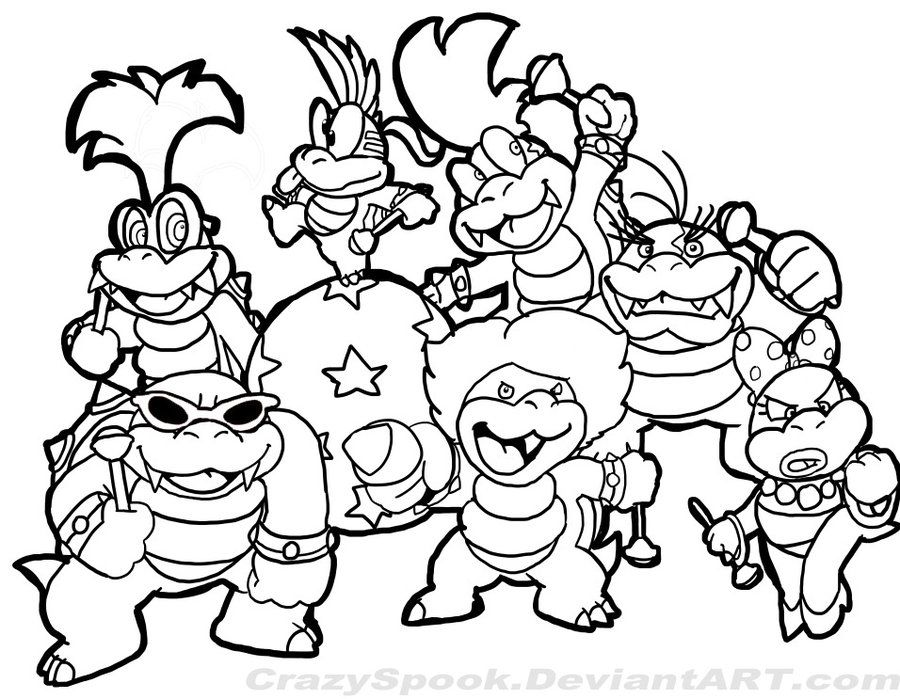 Free Coloring Pages Of Mario Characters Coloring Home