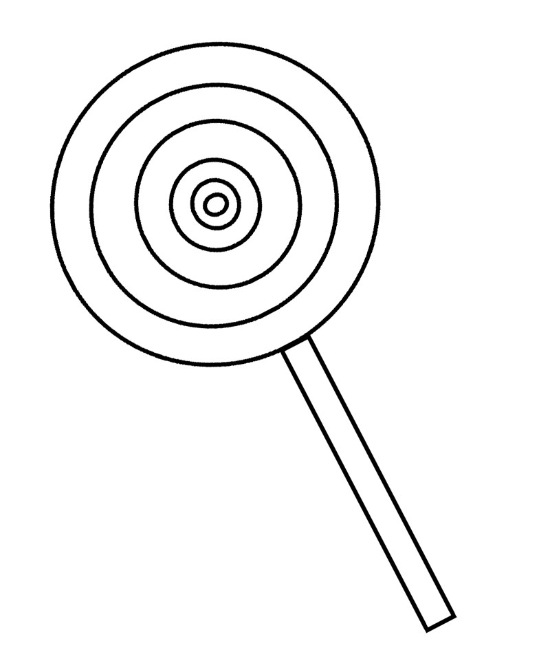 free coloring pages of lollipops and candy