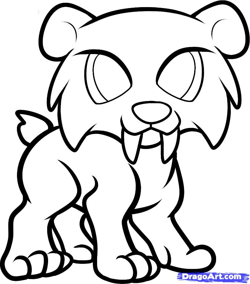 sabertooth tiger coloring pages - photo#17