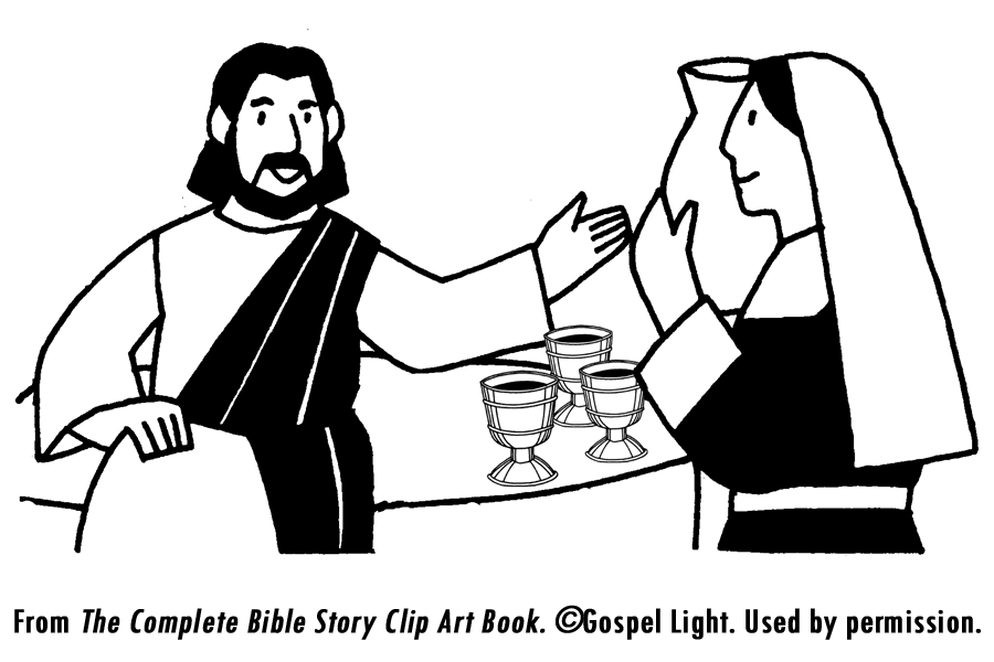 Wedding at cana coloring page coloring home for Wedding at cana coloring page