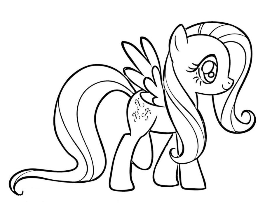 My Little Pony Coloring Pages Fluttershy - AZ Coloring Pages