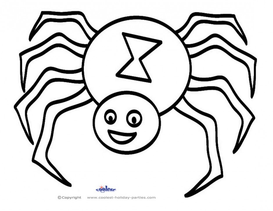 printable halloween spider coloring pages - photo#4
