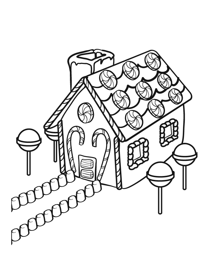 gingerbread house coloring pages coloring home