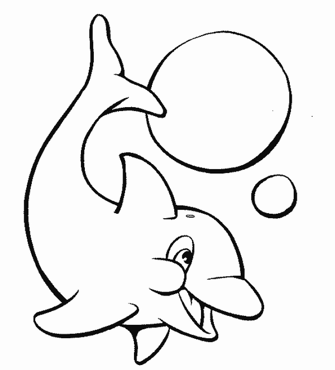 happy dolphin coloring pages for kids | Best Coloring Pages
