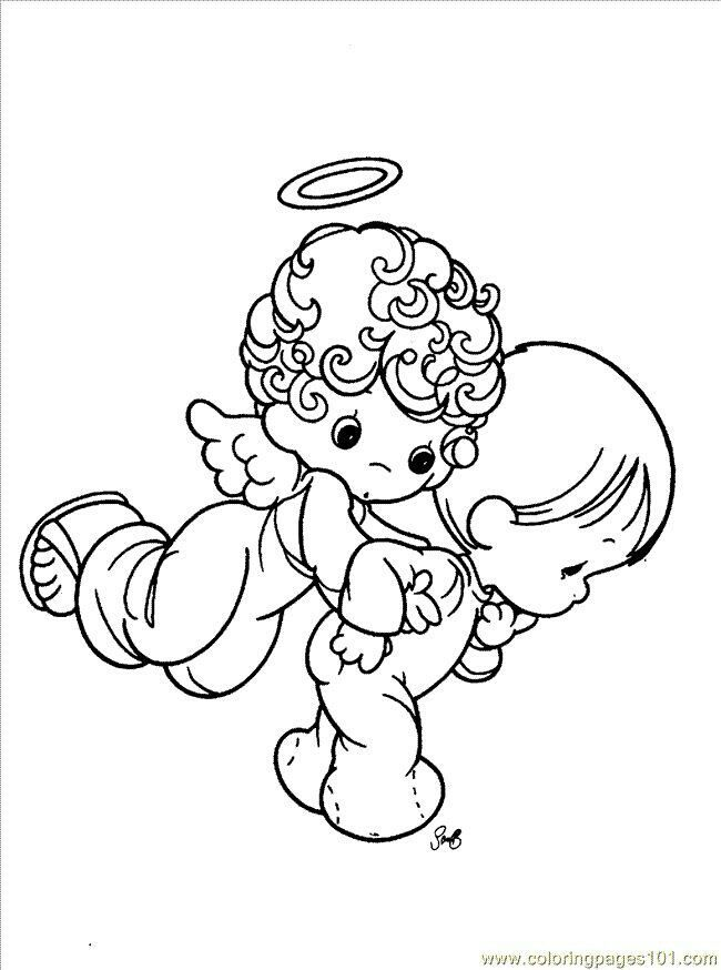 christmas boy angel coloring pages - photo#16