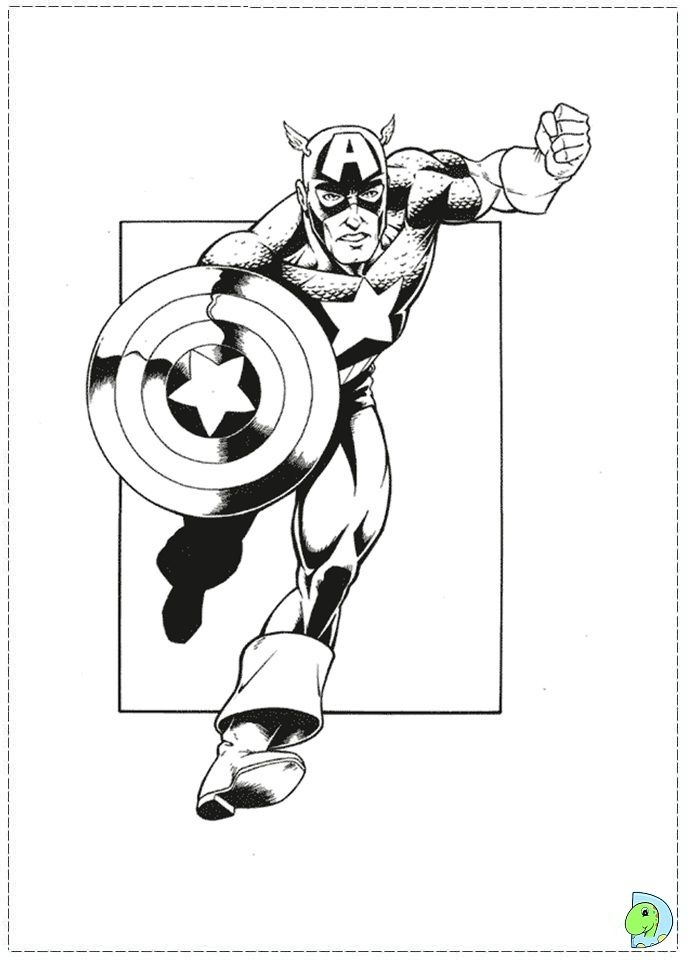 captain captain america Colouring Pages