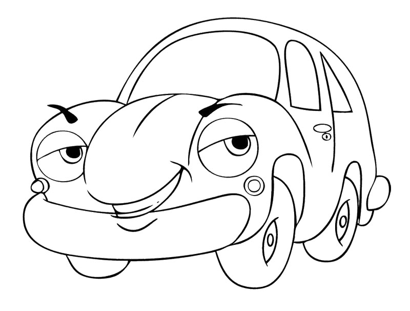 Coloring Pages Cars Cartoon : Free cartoon cars coloring pages