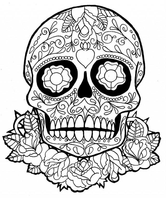 sugar candy skulls coloring pages - photo#10