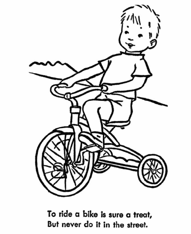 Summer Safety Coloring Pages