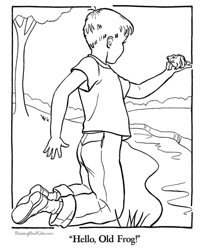 tadpole coloring pages - photo #38