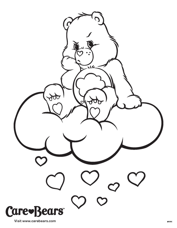 grumpy care bears coloring pages - photo#2