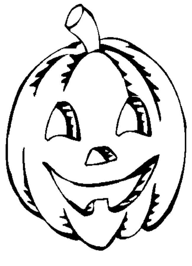 Jack o lantern cartoon coloring home for Jackolantern coloring pages