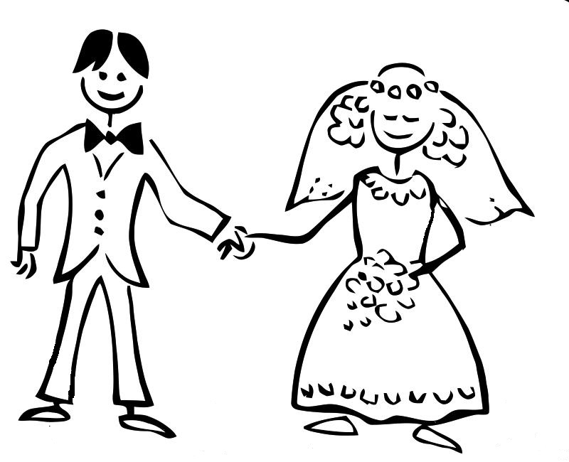 marriage coloring pages - married colouring pages