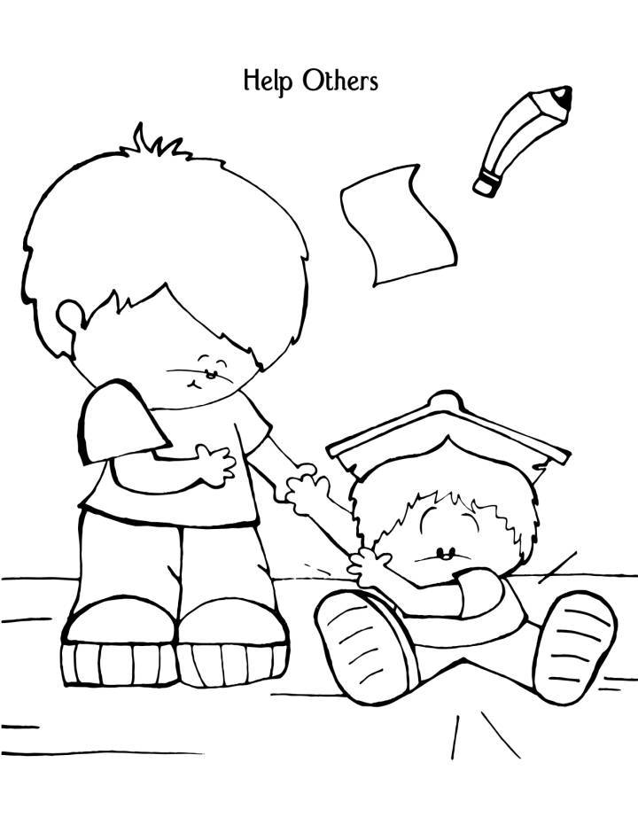 Sunday School Coloring Pages Fiveness