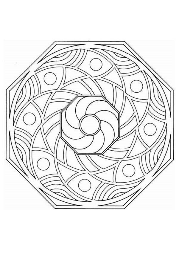 advanced mandala coloring pages printable - photo#46