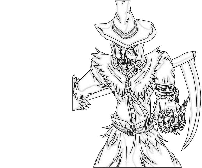 Scarecrow Color Pages Coloring Home Coloring Scares