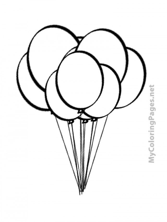 Hot Air Balloon Outline