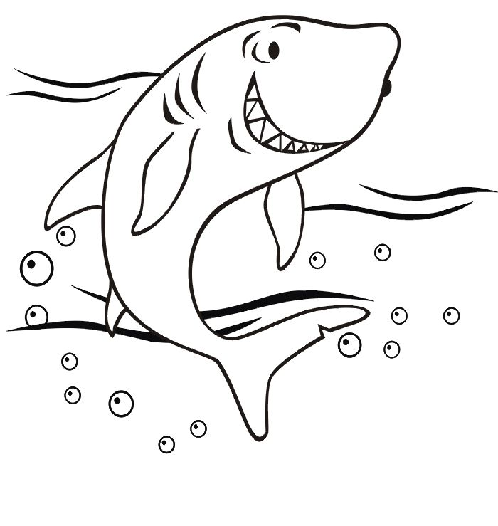 Free Shark Coloring Pages Coloring Home