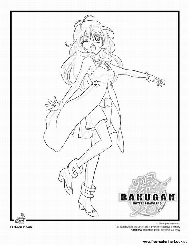 Bakugan Battle Brawlers Coloring Pages