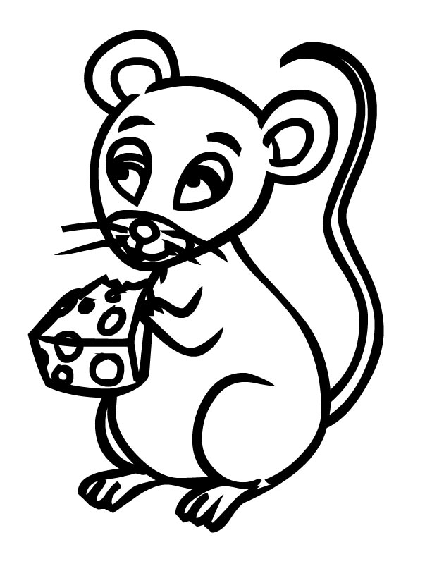 Freshcoloring printable mice coloring pages az coloring for Library mouse coloring page