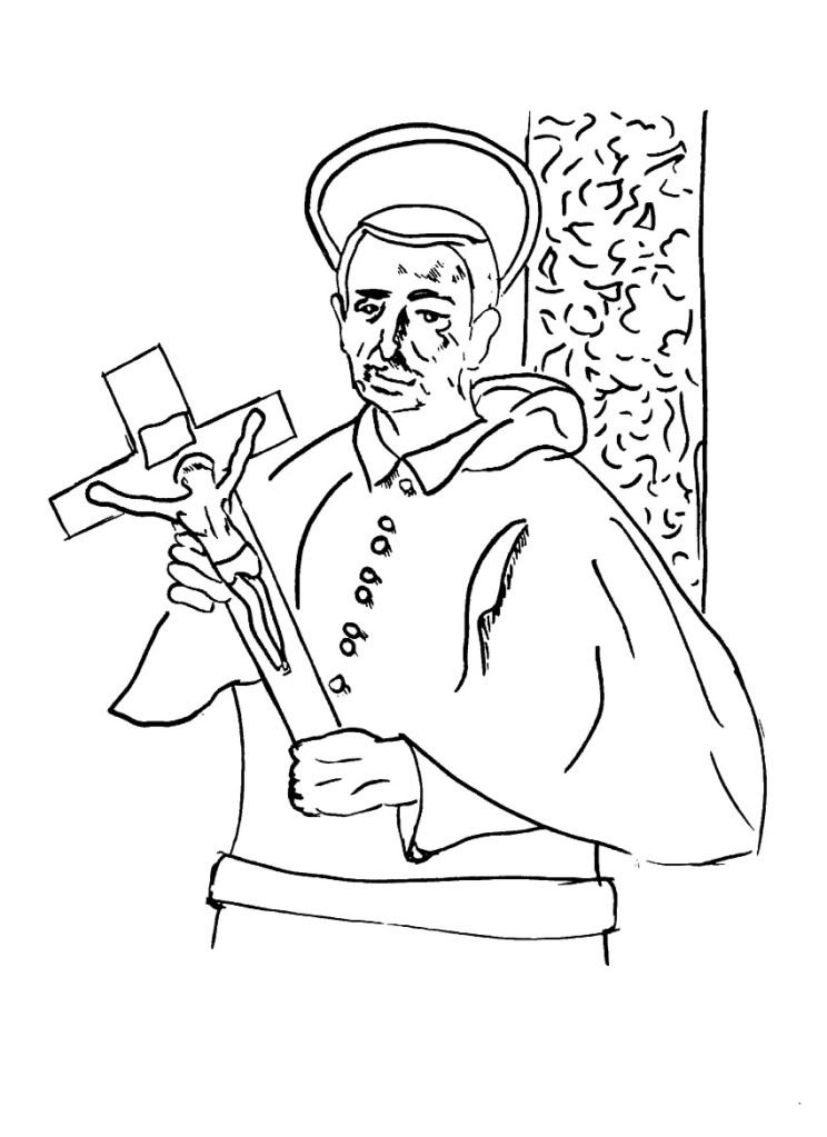 Flower of all Saints Colouring Pages