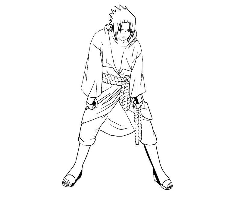 Sasuke Coloring Pages - Coloring Home