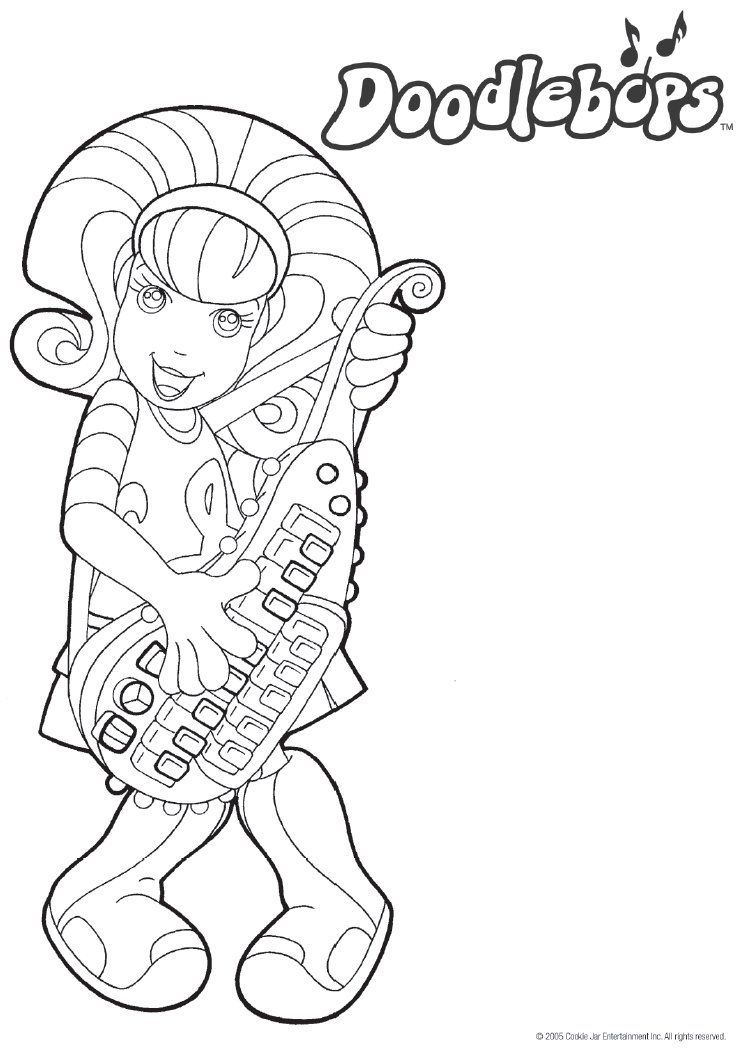 printable doodlebop coloring pages - photo#2