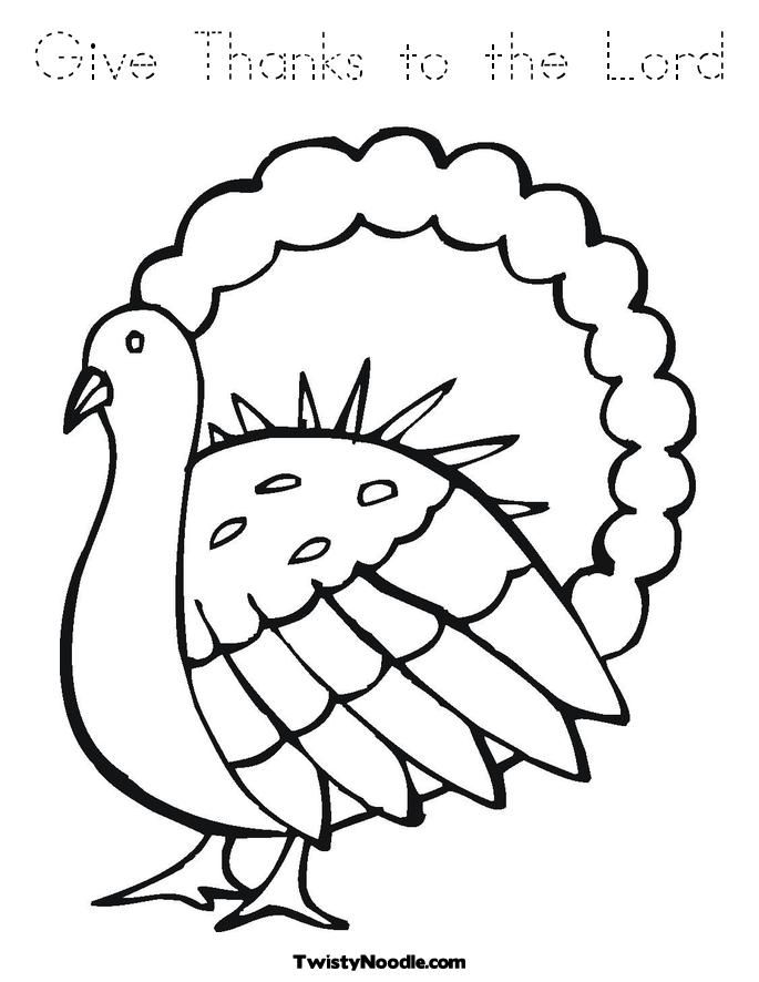 Give Thanks Coloring Pages - Coloring Home