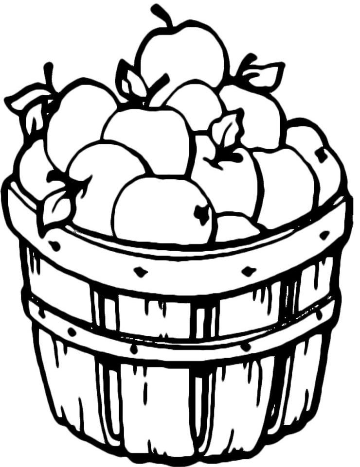 Apple Coloring Pages For Preschoolers Free High Resolution