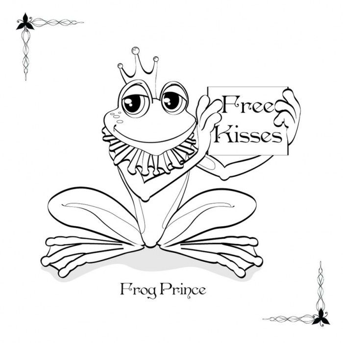 the frog prince coloring pages - photo#14