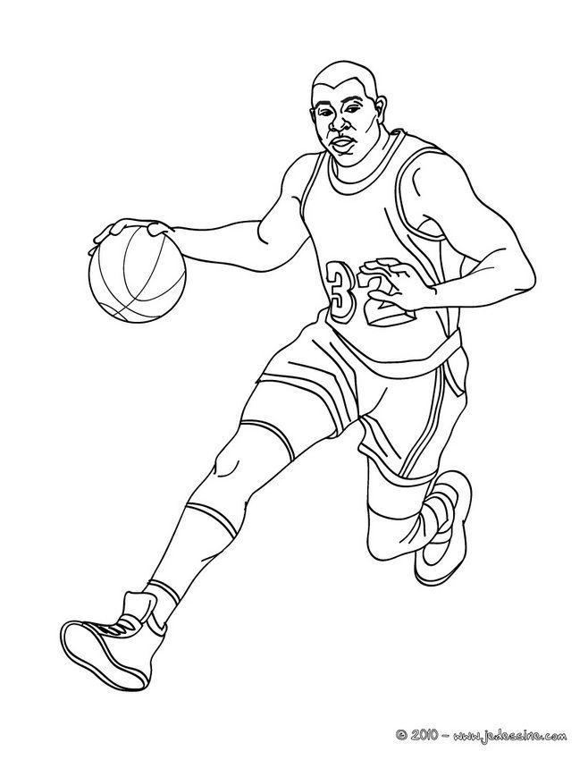 Coloriage Stars Du Basketball Coloriage De Kobe Bryant