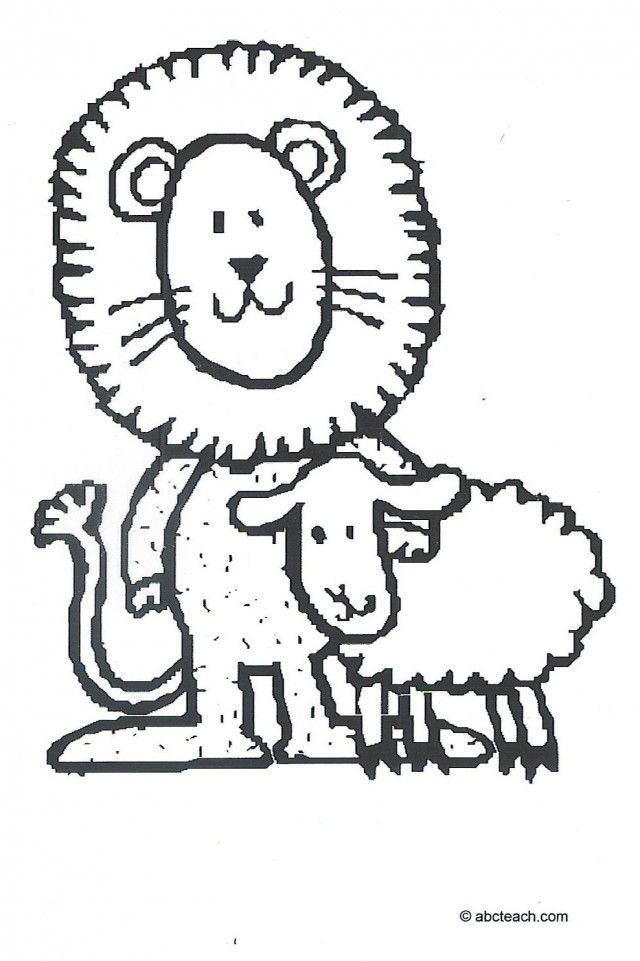 coloring pages lion and lamb - photo#32