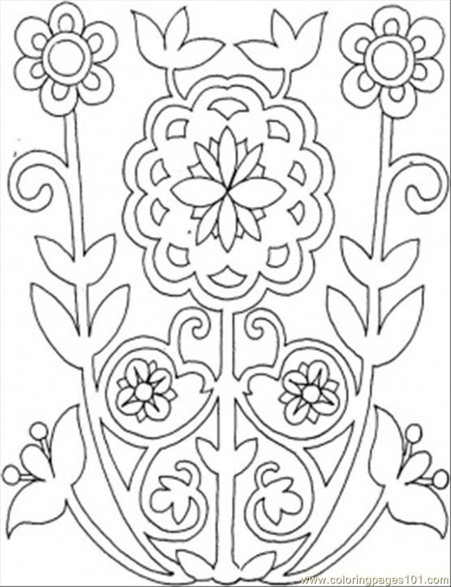 pattern coloring pages printable free - photo#27
