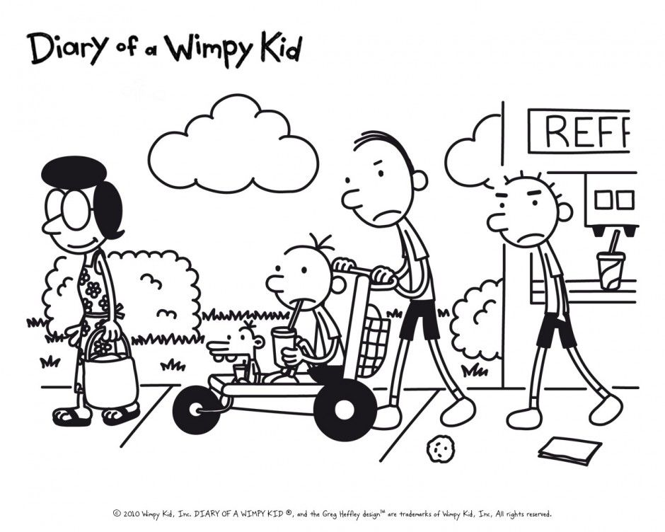 Diary Wimpy Kid Book Colouring Pages 140026 Diary Of A Wimpy Kid