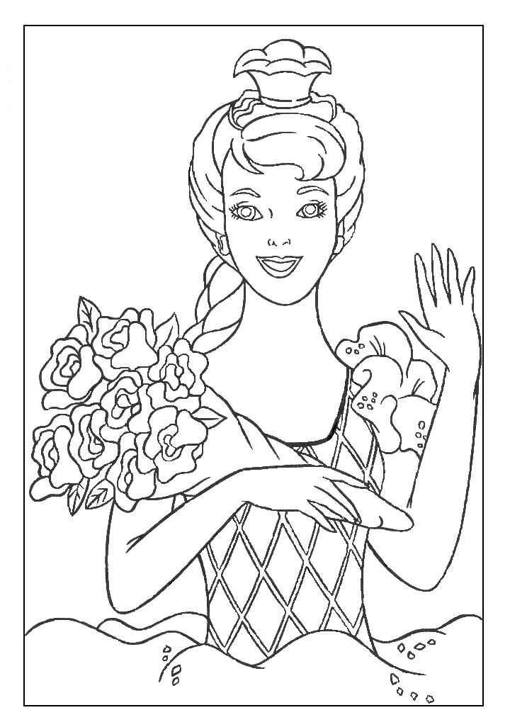 Free Printable Barbie Dresses Coloring Pages For Kids | Free
