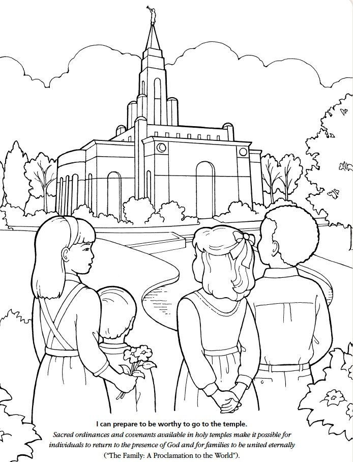 Lds Temple Coloring Pages Coloring Home