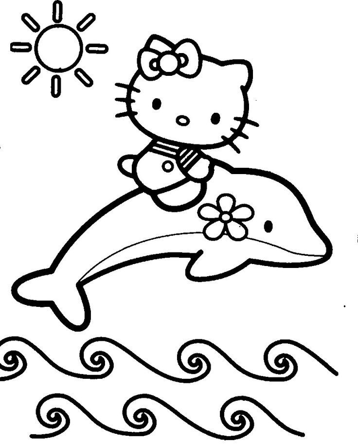 Coloring Pages Hello Kitty Dolphin : Dolphin coloring pages for kids home