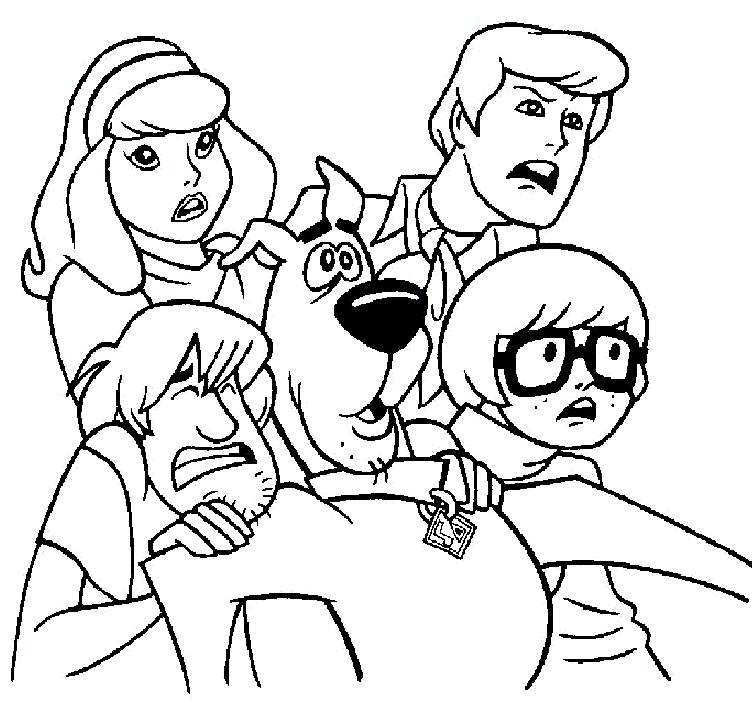 Scooby Doo Christmas Coloring Pages - AZ Coloring Pages