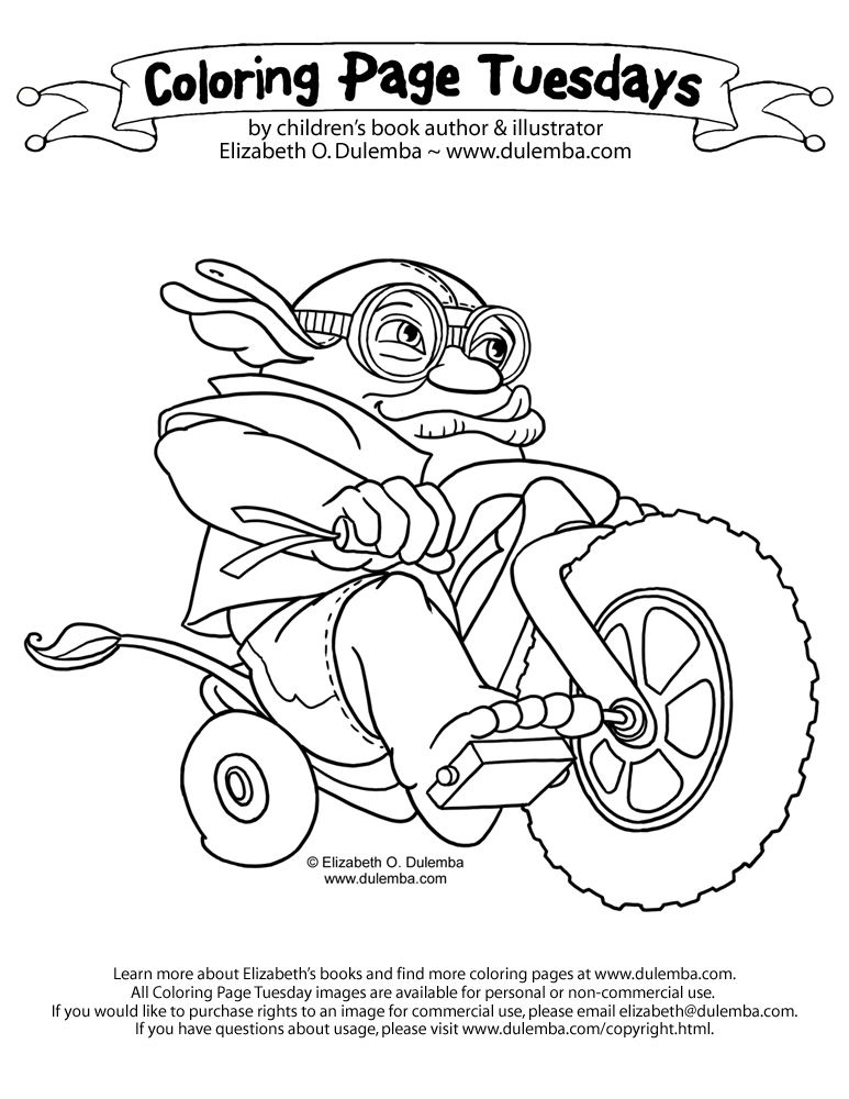 dulemba: Coloring Page Tuesday - Ugg on a Bigwheel