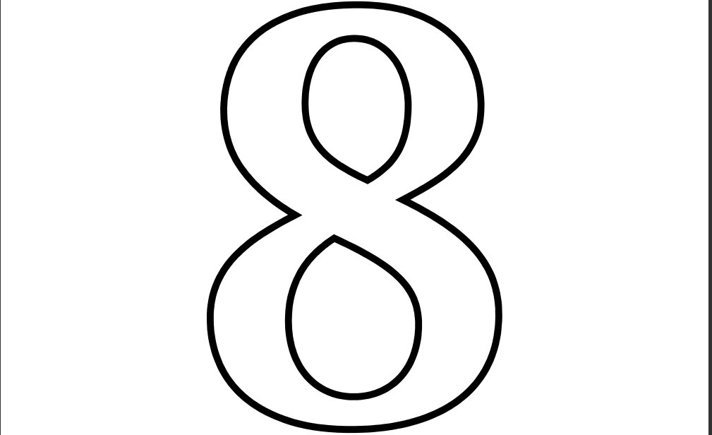 Line Art Numbers : Kids coloring number set blank line art numbers