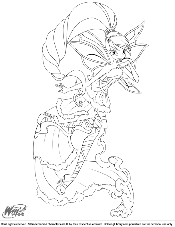 winx club online coloring pages - photo#17