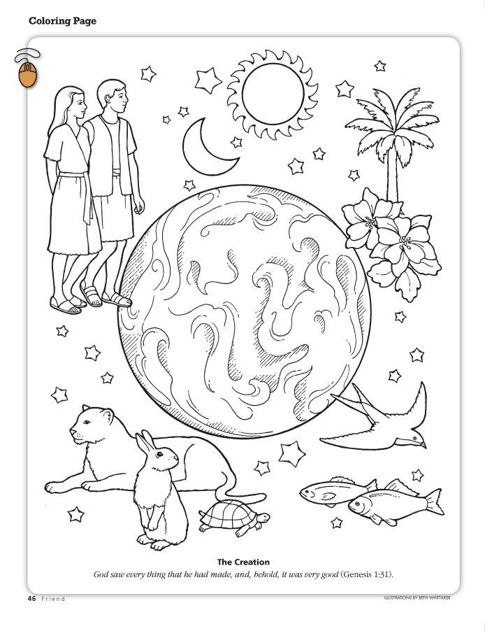 Creation coloring pages for sunday school coloring home for Coloring pages of creation