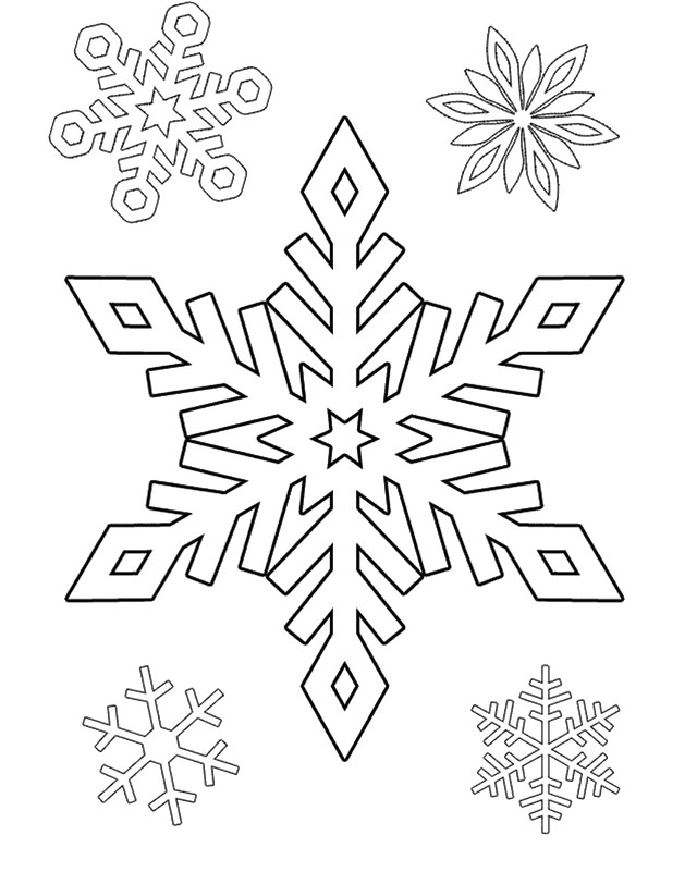 Printable Snowflake Coloring Pages AZ Coloring Pages