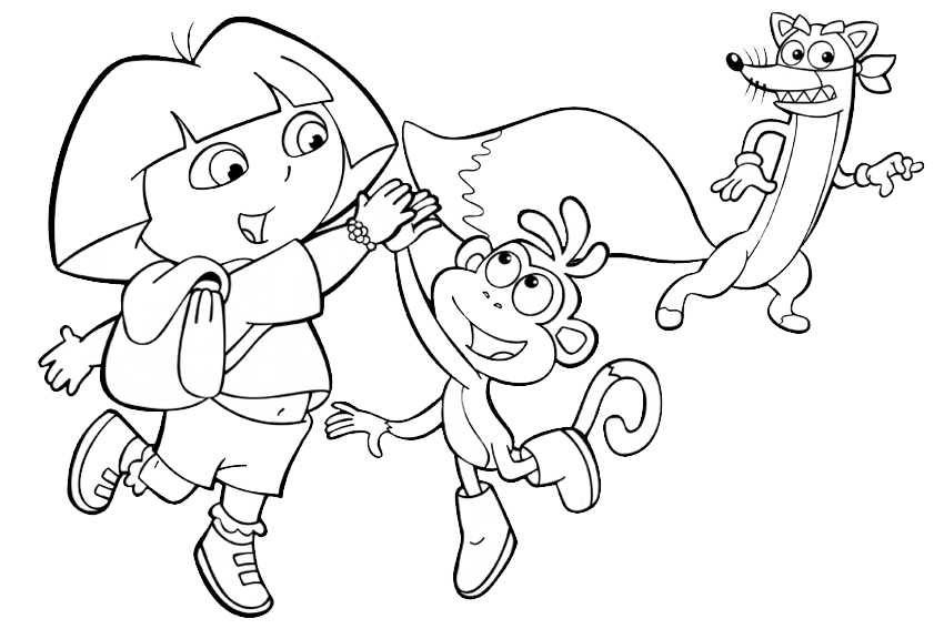 dora coloring pages backpack - photo#7