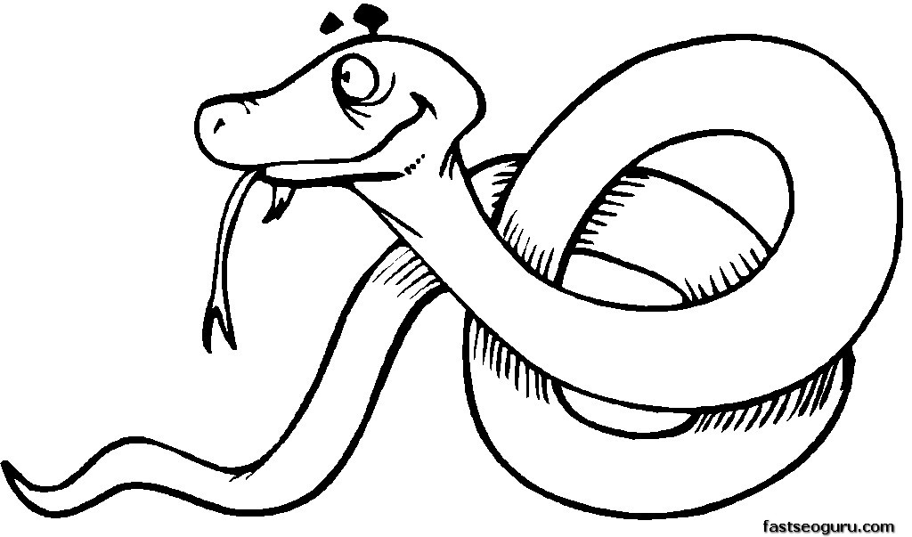 realistic cobra coloring pages - photo#43