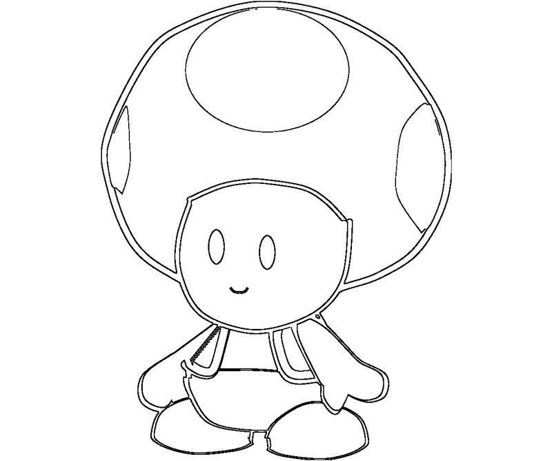 Toad From Mario Pictures Coloring