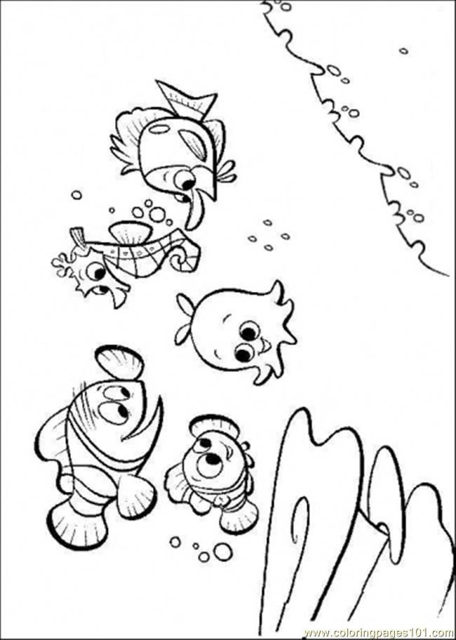 Finding nemo coloring pages to print coloring home for Finding nemo coloring pages free