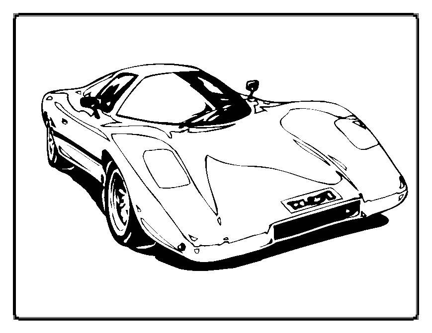 Fast Cars Coloring Pages Coloring Home